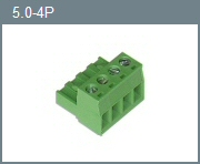 5.0mm 4-Position Pluggable Terminal Block