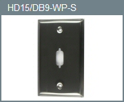 Stainless Steel Wall Plate for HD15/DB9